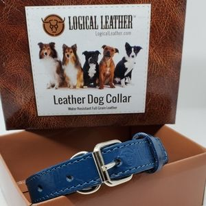 Other - Brand new Leather blue dog collar for small dog